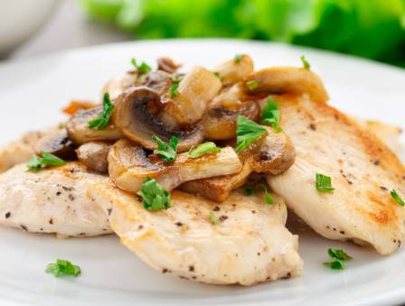 Herbed Lemon Chicken Breast with Mushrooms