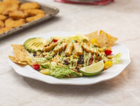Mexican Spiced Chicken Salad with Creamy Avocado Dressing
