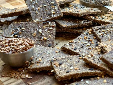 Two-Ingredient Flaxseed Crackers
