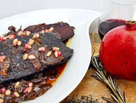 Pomegranate and Red Wine Short Ribs