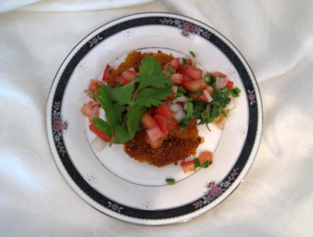 Crunchy Gefilte Fish with Tomato, Lime, and Cilantro Salsa