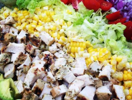 Southwestern Cobb Salad with Spicy Avocado Dressing