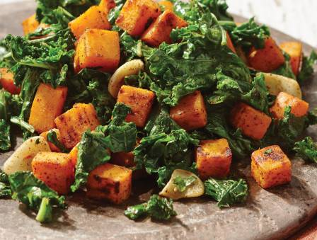 Kale and Sweet Potato Sauté