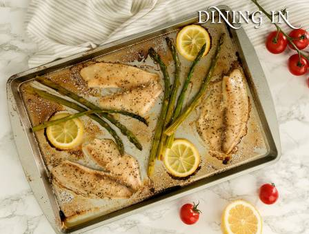 Baked Lemon Pepper Flounder