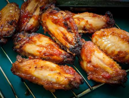 Mustard BBQ Chicken Wings