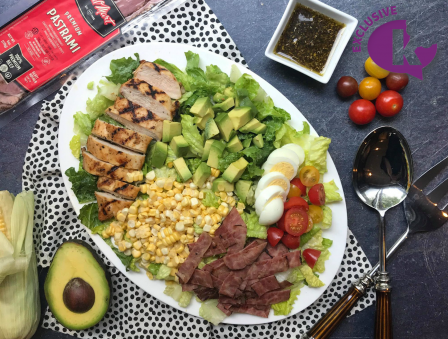 Grilled Chicken and Pastrami Cobb Salad