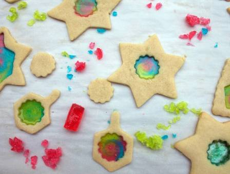 Chanukah Stained Glass Cookies