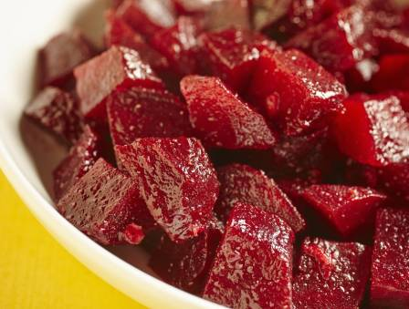 Orange Beets with Almonds