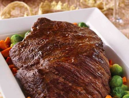 Sweet and Savory Champagne-Braised Brick Roast