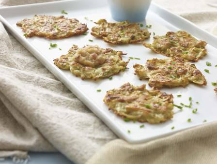 Potato and Scallion Latkes with Pickled Applesauce
