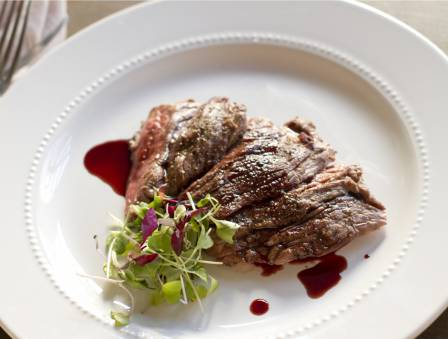 Pomegranate and Red Wine Reduction Glazed Beef