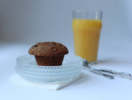 Bran Muffins with Raisins and Wheat Germ