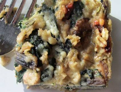Oat, Mushroom, and Swiss Chard Kugel