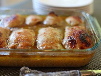 Chicken Capons with Vegetable Stuffing