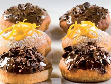 Healthy Whole Wheat Baked Doughnuts with Citrus Cream