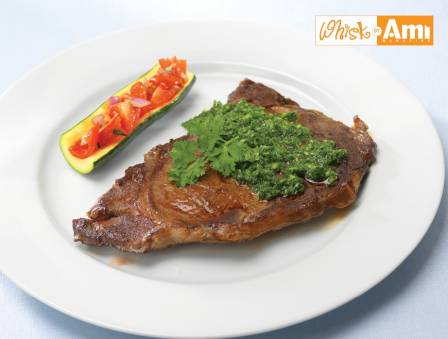 Rib Steak with Pesto-inspired Parsley Sauce