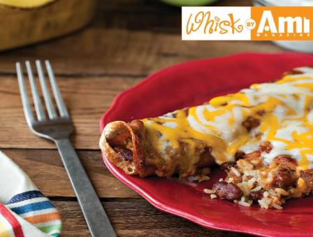 Rice and Cheese Enchiladas