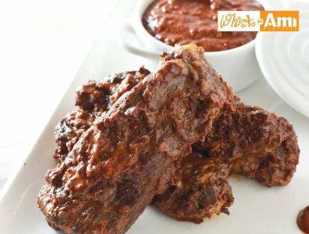 Ribs with Homemade Barbecue Mole Sauce