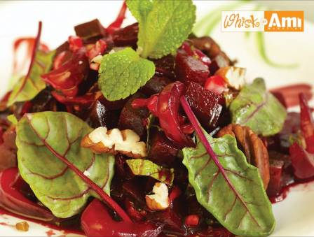 Roasted Beet and Asparagus Salad