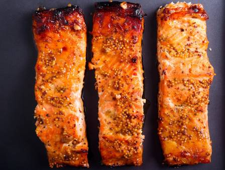 Roasted Salmon with Maple Glaze