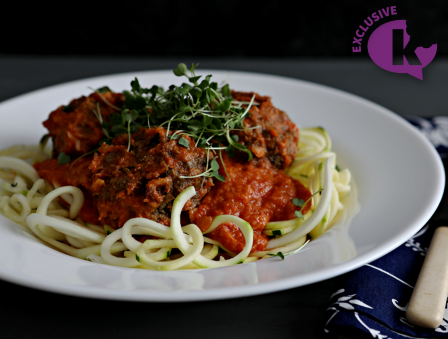 Free! - Mock Meatballs and Zucchini Noodles