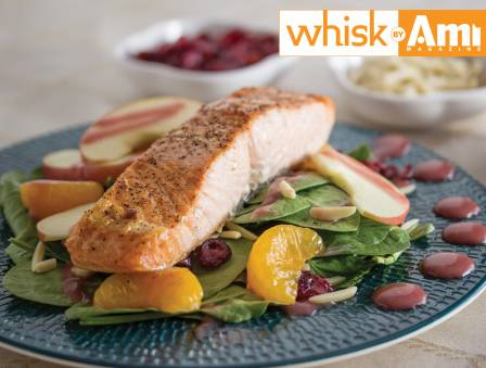 Salmon Salad with Raspberry Vinaigrette