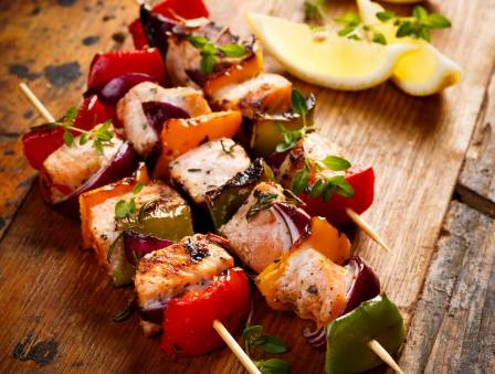 Salmon Kebab