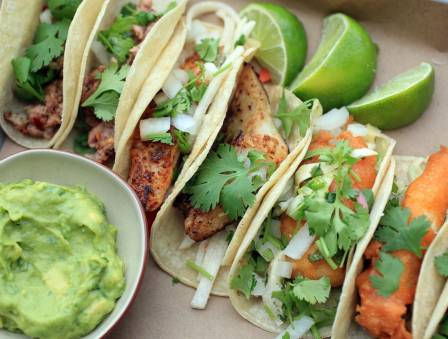Fish Tacos with Toppings