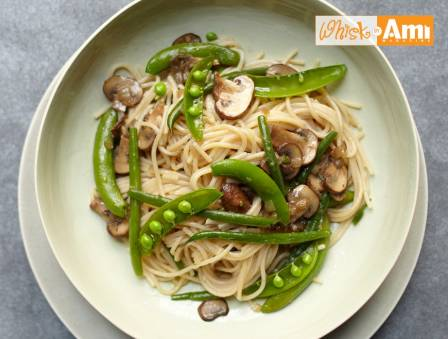 Simple Spring Vegetables with Gluten-Free Pasta