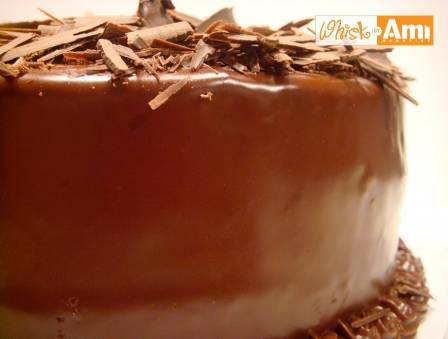 Six-Layer Chocolate Ganache Cake