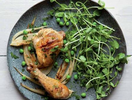 Slow-Cooked Chicken with Fennel and White Wine