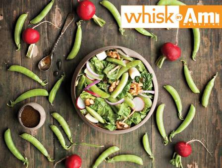 Snap Pea Walnut Salad