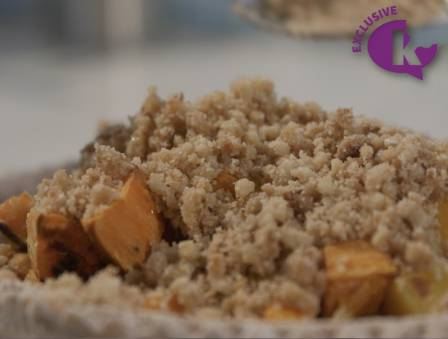 Butternut Squash and Sweet Potato Crumble Pie