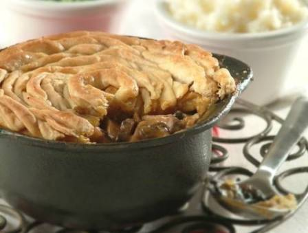 My Mother's Homemade Steak Pie with Minted Peas