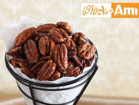 Sweet and Spicy Maple Roasted Pecans