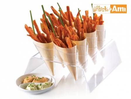 Baked Sweet Potato Fries with Cajun Mayo and Garlic Basil Mayo