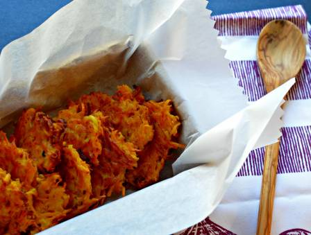 Butternut Squash Sweet Potato Latkes