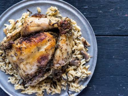 Syrian Roast Chicken with Rice (Dajaaj al Riz)