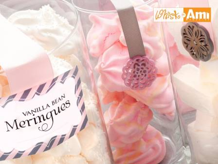 Vanilla Bean Meringues With Nonpareils or White Chocolate Drizzle