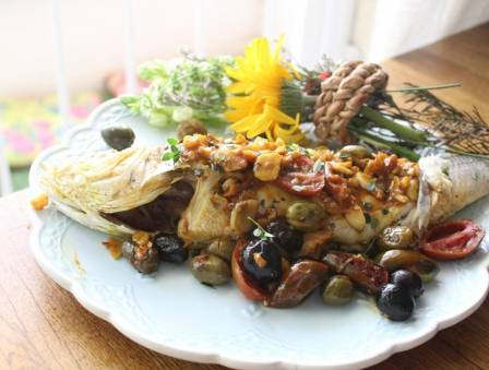 Whole Fish with Olives