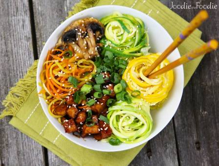 Zoodle and Veggie Bowl