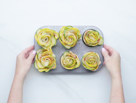 Zucchini Roses That Taste as Good as They Look