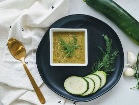 Zucchini and Roasted Garlic Soup