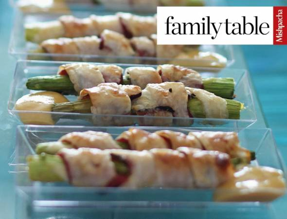 Phyllo-Wrapped Asparagus Spears with Honey-Mustard Sauce