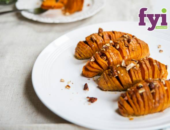 Hasselback Candied Sweet Potatoes
