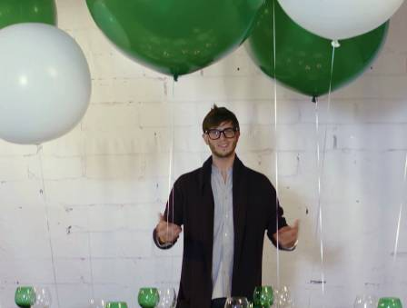 Green and White Balloon Party!