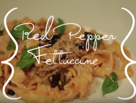 Secrets of Skinny Cooking: Red Pepper Fettuccine